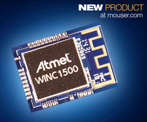 Atmel WINC1500 Low Power WiFi Module Now at Mouser-Image