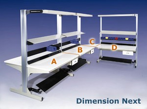 Dimension Next expandable modular workbenches-Image
