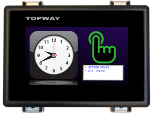 4.3 inch Smart TFT LCD Display, RS232 interface-Image