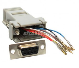 DB9 Female to RJ45 Modular Adapter-Image