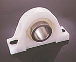 Pillow Block with Stainless Steel Shaft Protectors