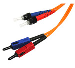 Multimode ST / SC Duplex Patch Cord