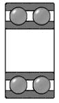 Double Row Deep Groove Bearing (drawing)
