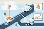 Volvo Tests V2V Winter Hazard Warning