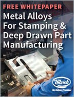 Metal alloys for stamping and deep drawn part manufacturing