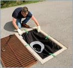 Finally, a drain insert that won't fall into your catch basin!