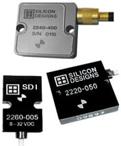 Silicon Designs, Inc. - Single Axis, Surface Mount Accelerometers